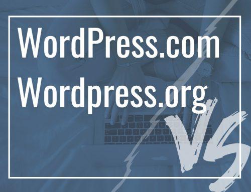 Qual a diferença do WordPress.com e WordPress.org?