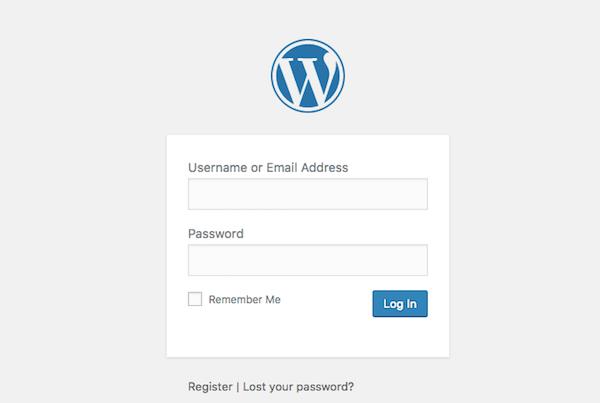 WordPress infectado tela de login